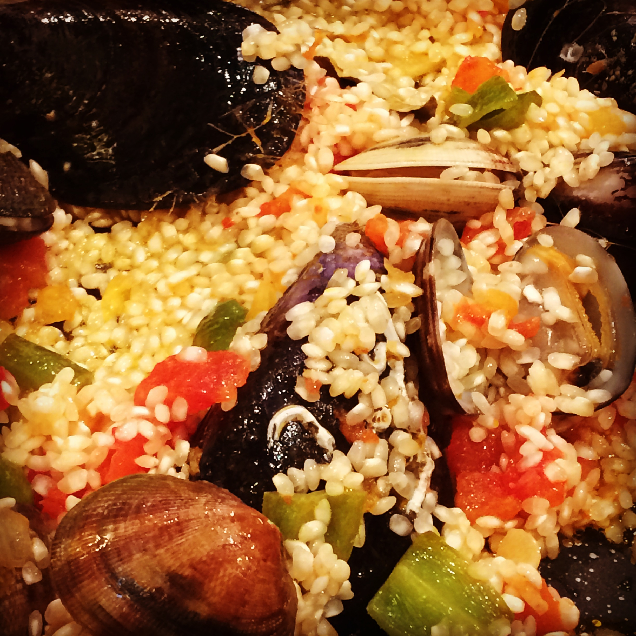 Clams, Muscles, Rice Paella Mixture