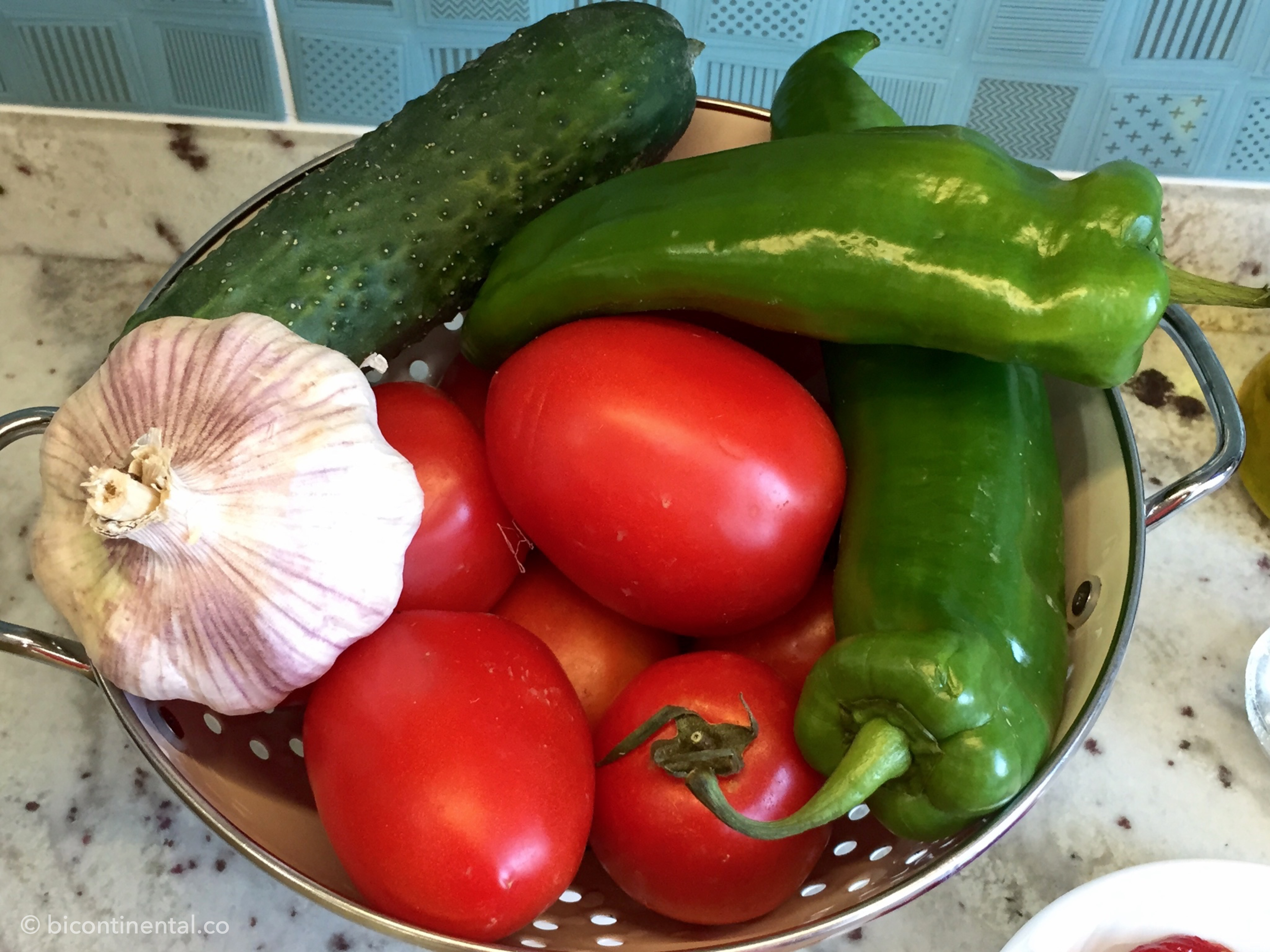 vegetables for gazpacho
