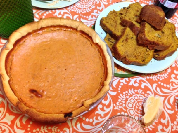 Homemade Pumpkin Pie with Real Pumpkin